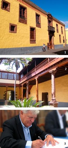 1 y 2: sede matriz de CICOP Internacional en San Cristóbal de La Laguna, en Santa Cruz de Tenerife, España. 3: arquitecto Miguel Ángel Fernández Matrán,  Director General de CICOP.